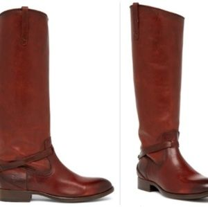 FRYE WOMEN'S LINDSEY PLATE LEATHER RIDING BOOTS